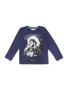 Boys red indian lion t-shirt