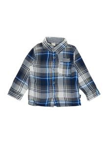 Boys Reversible Check & Gingham Shirt