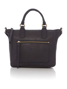 Berkeley navy medium crossbody leather tote bag