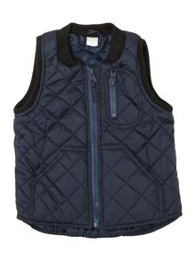 Boys quilted gilet with pockets
