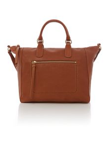 Berkeley tan large crossbody leather tote bag