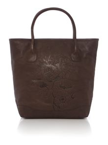 Dulwich brown medium leather tote bag