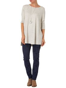 Aideen contrast stitch jumper