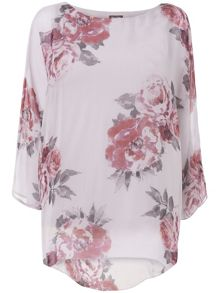 Rosa printed silk blouse