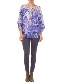Giselle printed silk blouse