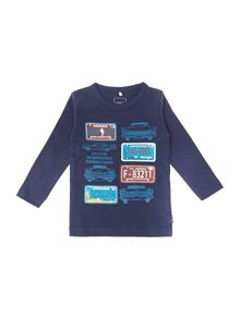 Boys number plate graphic t-shirt