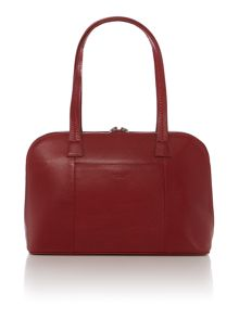 Pippin red medium leather tote bag
