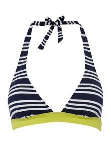 Colour pop stripe bikini top