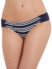 Colour pop stripe bikini brief