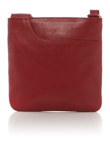 Pocketbag red small leather crossbody bag