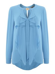 Frill front blouse