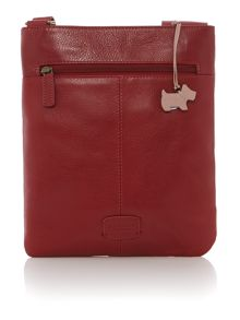 Pocketbag red medium leather crossbody bag