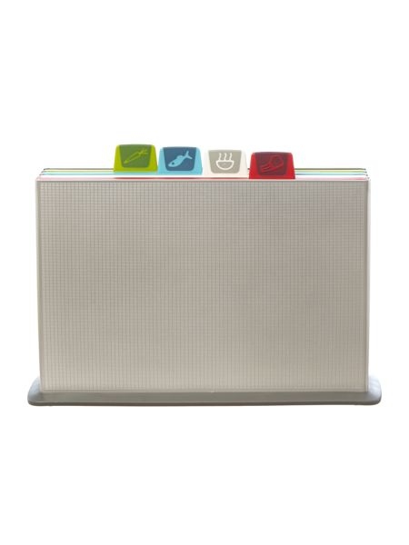 Joseph Joseph Index Chopping Board Set, Large - Silver