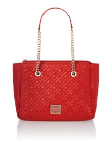 Sandra quilted shoulder tote handbag
