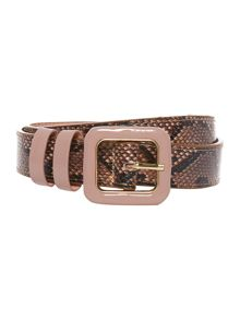 Anne covered buckle trouser belt