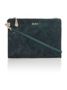Addison double zip crossbody handbag