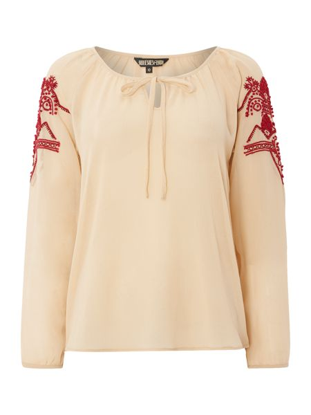 Biba Embroidered gypsy blouse