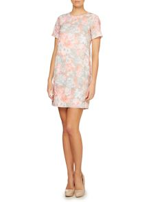 Shift dress with floral print