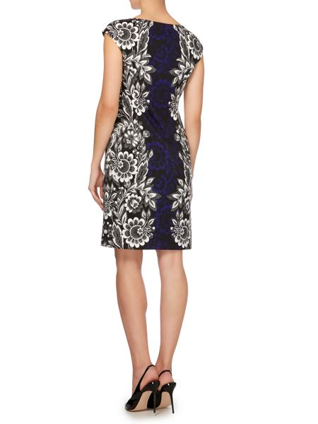 Linea Floral boarder print dress