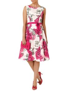 Cherie printed lace dress