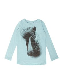 name it Girls horse graphic t-shirt