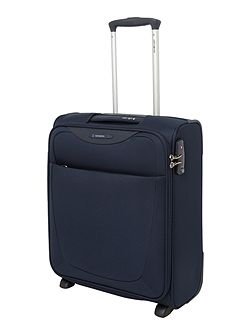 Base Hits navy blue 2 wheel cabin suitcase
