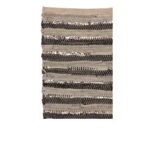 Broste Copenhagen Nor Rug in Leather/Cotton grey tones 140x200cm
