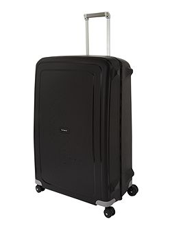 S`Cure black 8 wheel 81cm extra large suitcase