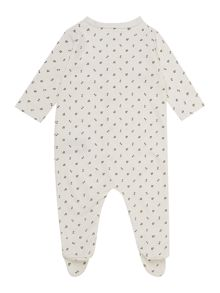 Babys all over music print sleepsuit