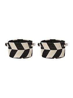 Zig Zag Laundry Bags (Set of 2)