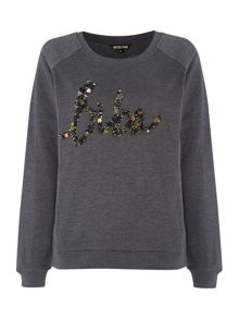 Biba wording sequin sweatshirt