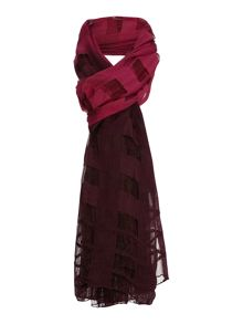 Grid Texture Ombre Scarf