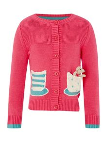 Girls Mouse And Teacup Cardigan