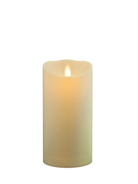Luminara Medium Flameless Pillar Candle in Ivory