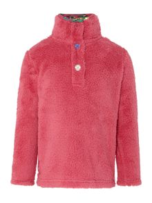 Girl`s funnel neck fleece sweatshirt