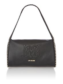 Black medium studded shoulder bag