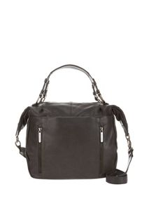 Charcoal Kirsten Leather Slouch Tote