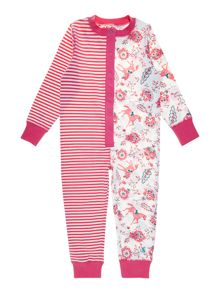 Girls stripe and horse onesie
