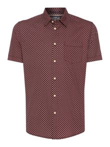 Criminal Glyn Mini Geo Short Sleeved Shirt