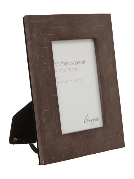 Linea Black Mother Of Pearl Photo Frame 4x6