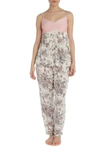 Paisley floral mixed fabric pj set
