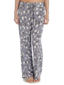 Climbing blossom jersey print trousers