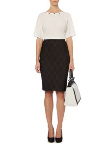 Pied a Terre Scuba Embossed Skirt