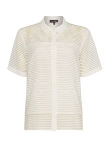 Woven Stripe Sheer Shirt