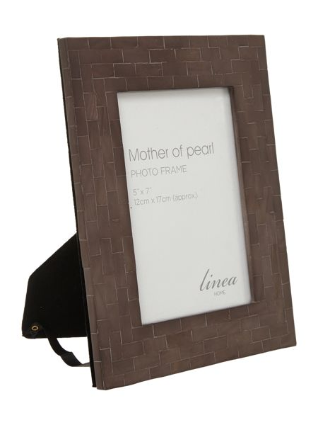 Linea Black Mother Of Pearl Photo Frame 5x7