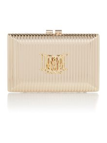 Gold small evening clutch bag