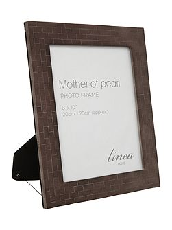 Black Mother Of Pearl Photo Frame 8x10