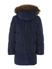 Girls fur hood padded coat