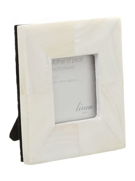 Linea Mother Of Pearl Photo Frame 2x2