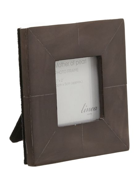 Linea Black Mother Of Pearl Photo Frame 2x2
